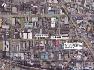淀川区三津屋南にある工業地域192坪の工場の航空物件です。