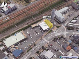 三基建設、吹田市穂波町の物件、倉庫航空写真